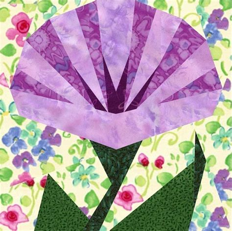 Flower Quilt Block Patterns by Morning In May 4 Flower Quilt Block Patterns Paper Pieced Quilt Pat