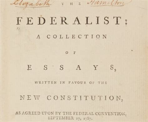 The Federalists Was A Collection Of Essays About by The Federalist A Collection Of Essays Written In Favour