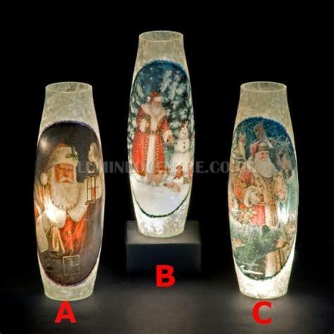 Illuminated Vases by Snowtime 20 Led Warm White Illuminated Glass Santa