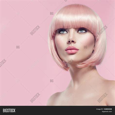 models hair stock photo image fashion model portrait pink image photo bigstock