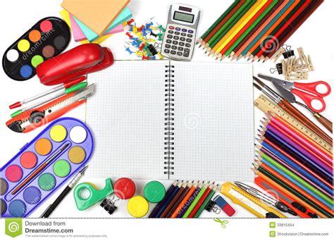 Fournitures De Bureau D 233 Cole Et Images Stock Image Bureau D école