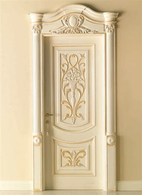 Luxury Interior Doors Luigi Xvi 4014 Qq Int Polished Bleached Gold With Carved Embossment Luigi Xvi 169 Classic Wood