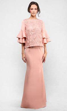 Peplum Brukat Top baju kurung moden lace minimalis baju raya 2016 fesyen