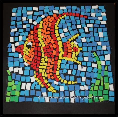 How To Make Paper Mosaic Artwork - craft ideas for all foam mosaic
