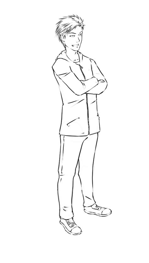 Drawing Of A Standing Up by How To Draw Boys 7 Steps With Pictures Wikihow