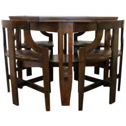 Game Table Chairs Rare Arts And Crafts Game Table And Chairs At 1stdibs