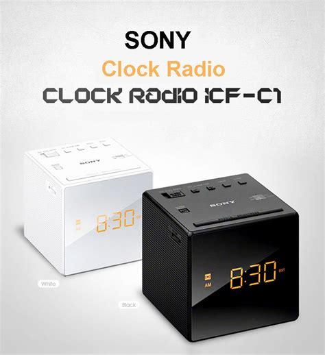 Sony Clock Radio Icf C1 Sony sony am fm radio alarm clock icf c1 white icf c1 ebay
