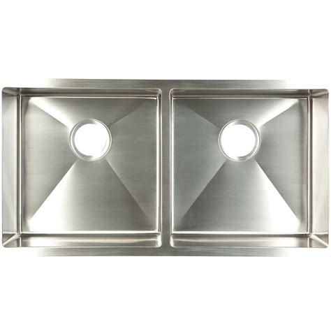Home Depot Undermount Kitchen Sink Franke Undermount Stainless Steel 35x18x9 Basin Kitchen Sink Udtd32 10 The Home Depot
