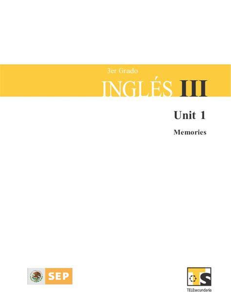 libro de ingles de telesecundaria 3 grado ingles tercero bloque1