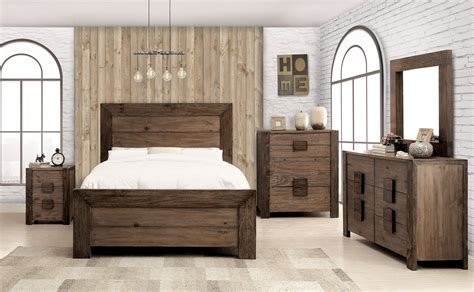 rustic solid wood bedroom sets aveiro rustic tone solid wood 2pc bedroom set w bed the home