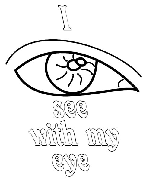 I See With My Eye Coloring Pages Free Printable Coloring I My Coloring Pages