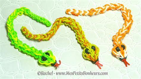Serpent en élastiques Rainbow Loom Tuto   Niveau avancé   YouTube