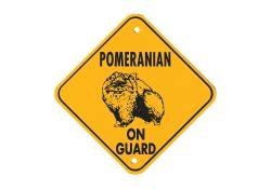 pomeranian guard pomeranian on guard ミニアルミサイン ポメラニアン