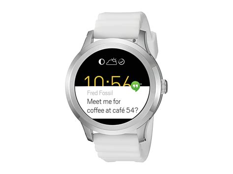 Fossil Smart Fs0100 White Silver fossil q q founder 2 smartwatch ftw2115 at zappos