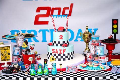 Kara's Party Ideas Red & Blue Race Car Birthday Party