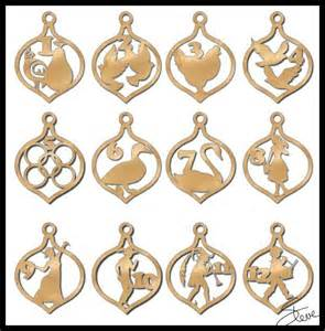scrollsaw workshop 12 days of christmas ornaments scroll
