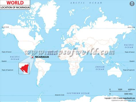 nicaragua location on world map where is nicaragua location of nicaragua