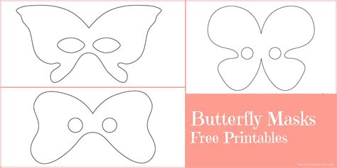 butterfly mask template butterfly masks free printables owl