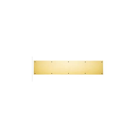 Brass Kick Plate For Front Door Polished Brass Kick Plate 6 Quot X 34 Quot Knobs N Knockers