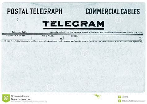 telegram template vintage telegram royalty free stock photos image 5653918