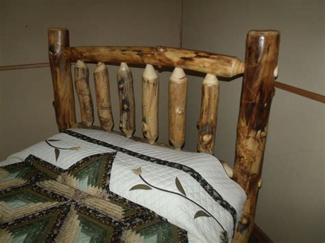 Rustic King Headboard Rustic Aspen Log Bed King Size Mission Style Headboard Only Ebay