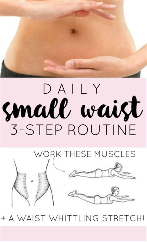 3 step daily small waist workout routine diary of a fit