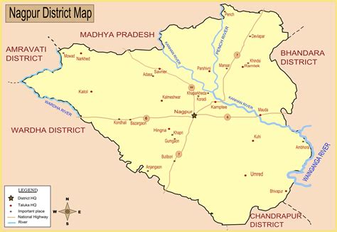 nagpur in map of india nagpur in india map