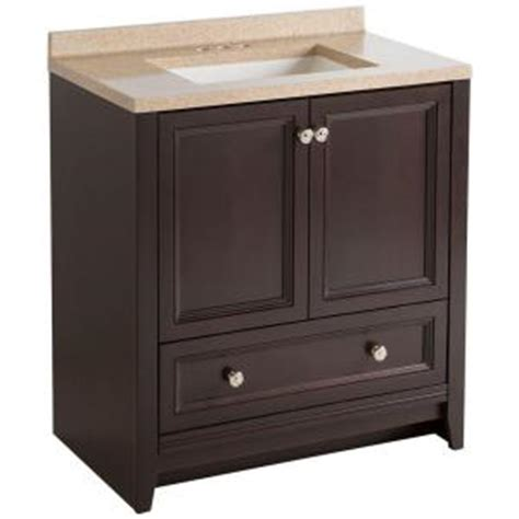 glacier bay delridge 30 inch w modular vanity in chocolate