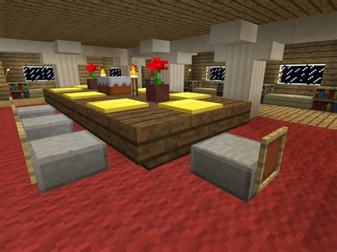 How To Build A Dining Room In Minecraft Pe Skoardy 187 Minecraft