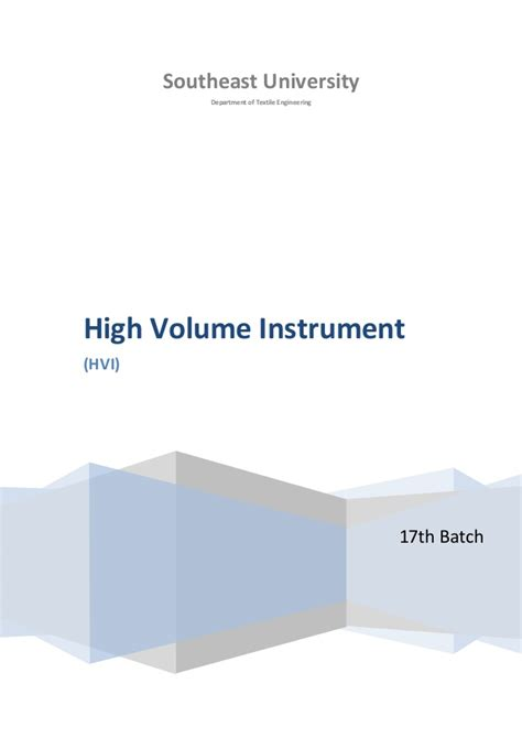 hvi email high volume instrument in qc department of textile industry