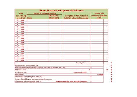 worksheet home renovation budget worksheet mifirental