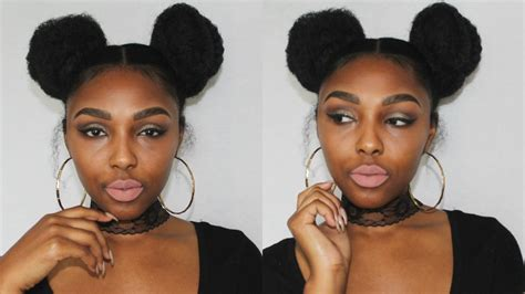 2 Buns Hairstyle by Hair Space Buns 2 Buns With Marley Hair