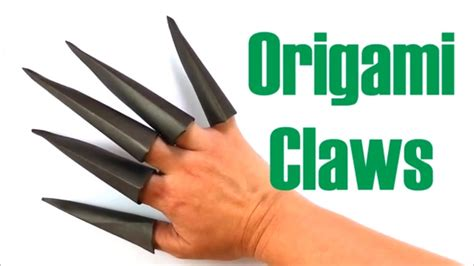 How To Make Paper Claws - how to make paper claws origami claws paper nails