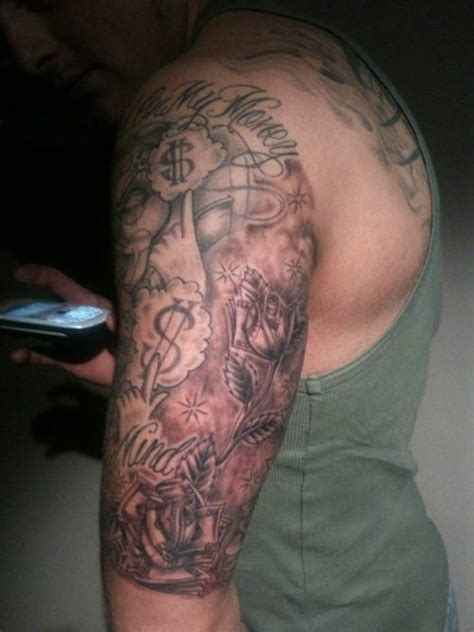 money sleeve tattoos tricep tattoos for tattoos