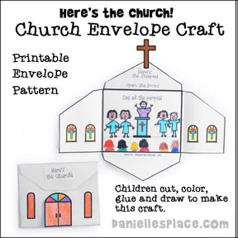 pattern energy employment here s the church envelope craft printable craft patterns