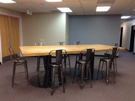 conference table height custom conference table bar height feruxe custom