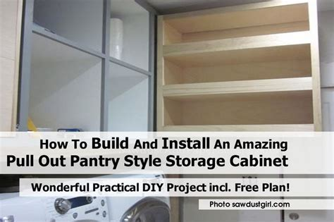 how to build and install an amazing pull out pantry style