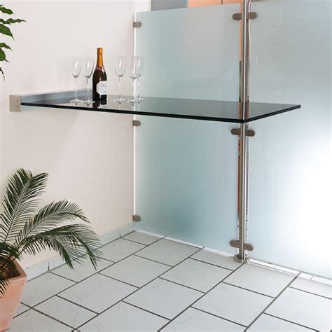 Schiebetür Glas In Wand by Glas Stehtisch Freitragend Mit Wandklemmleiste Glasprofi24
