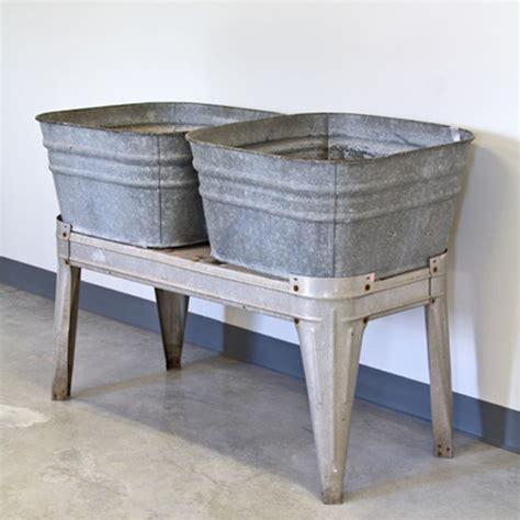 double laundry tub antique galvanized wash tubs vintage galvanized double
