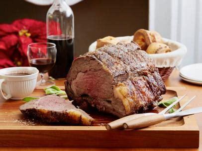 roast prime rib  thyme au jus recipe bobby flay