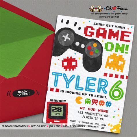free printable birthday invitations video games video game party invitation video game birthday party