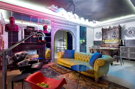 ukrainian apartment interiors musician eclectic studio in ukraine reflects a bold personality