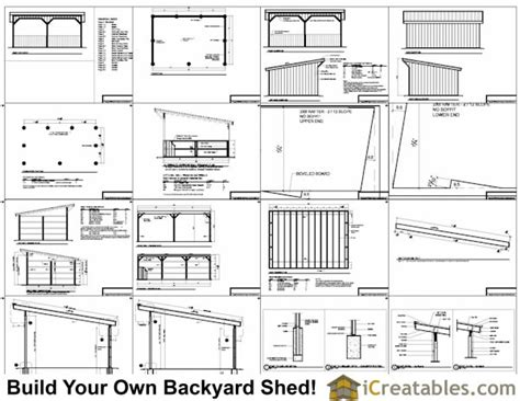 Free Run In Shed Plans 16x24 run in shed plans