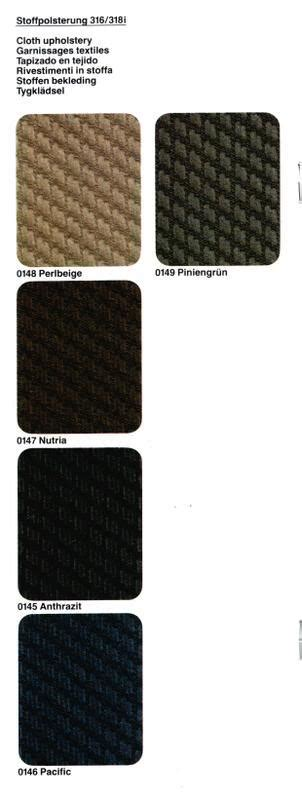 e30 seat upholstery e30 seat upholstery interior codes designs and options