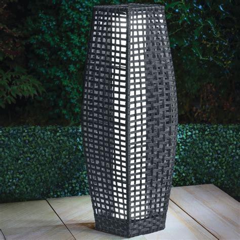 rattan solar lantern grey cm home store