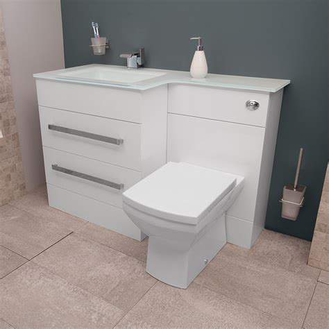 Vigo Bathroom Furniture Vigo Left Combination Unit And White Basin