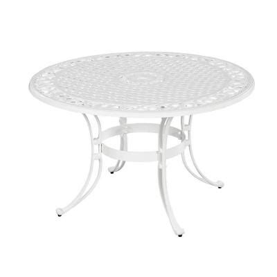 home styles biscayne 48 in white patio dining table