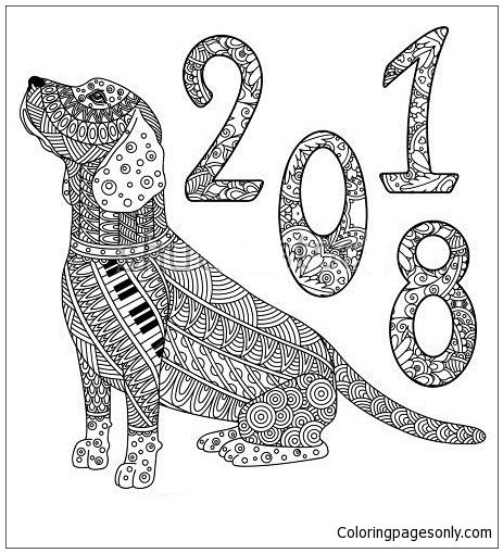 coloring pages year of the dog new year of the dog coloring page free coloring pages online