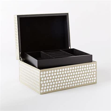 Polkadot Box metallic polka dot boxes west elm