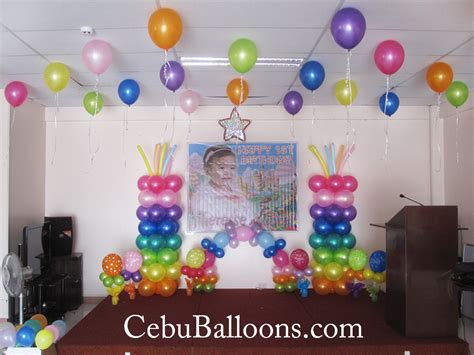 home balloon decoration simple balloon decoration for birthday at home home decor